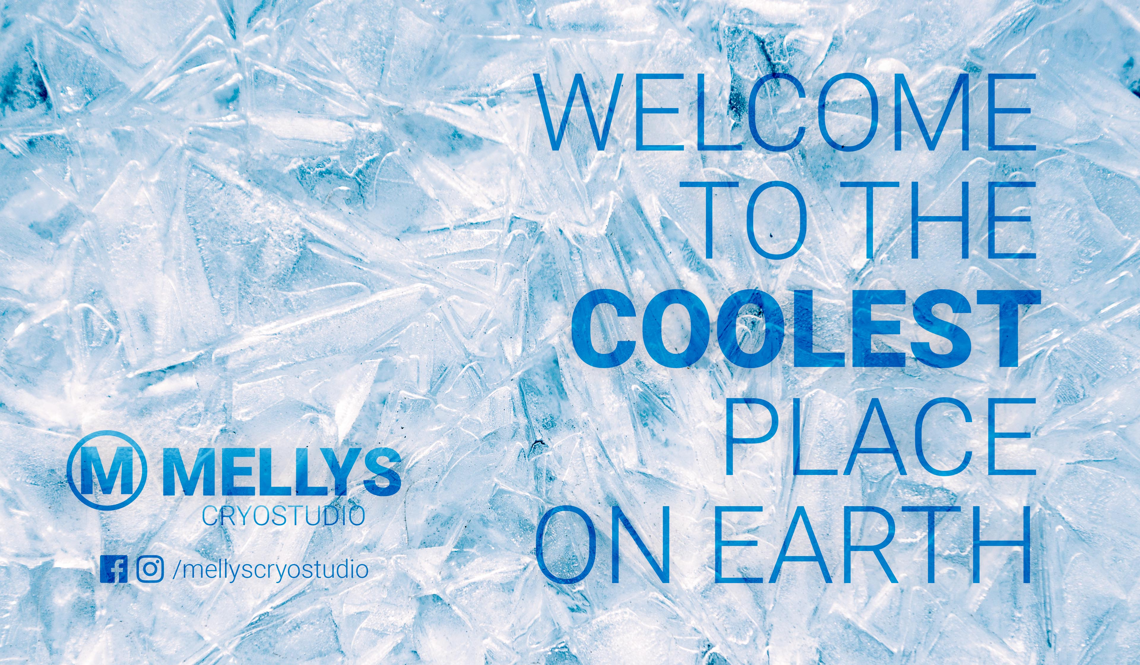 Mellys cryostudio- Banner- Welcome to the coolest place on earth - ellys zonnestudio